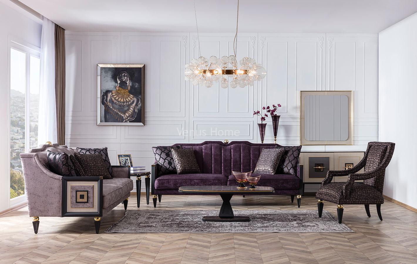 Gold Sofa Set